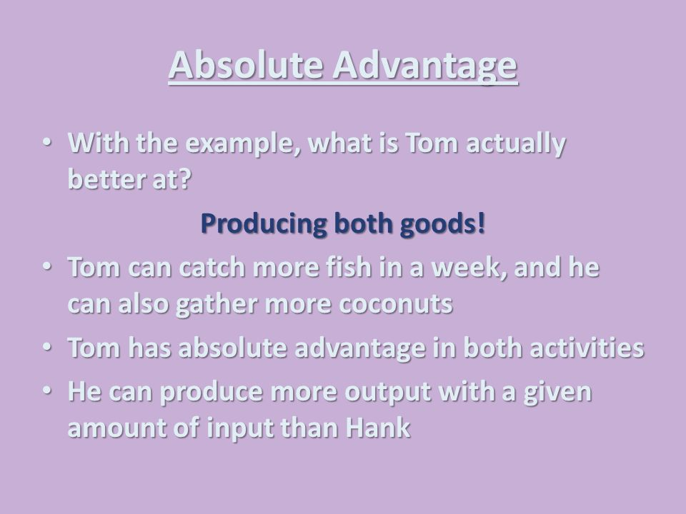 absolute and comparative advantage pdf
