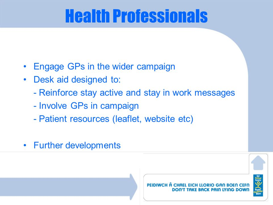Health Professionals Engage GPs in the wider campaign