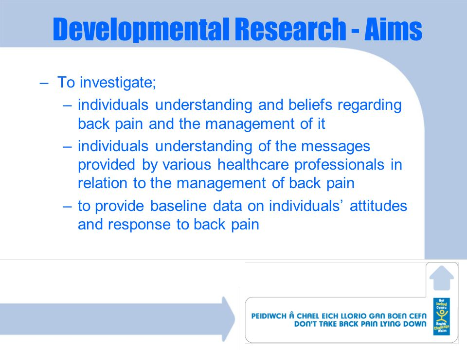 Developmental Research - Aims