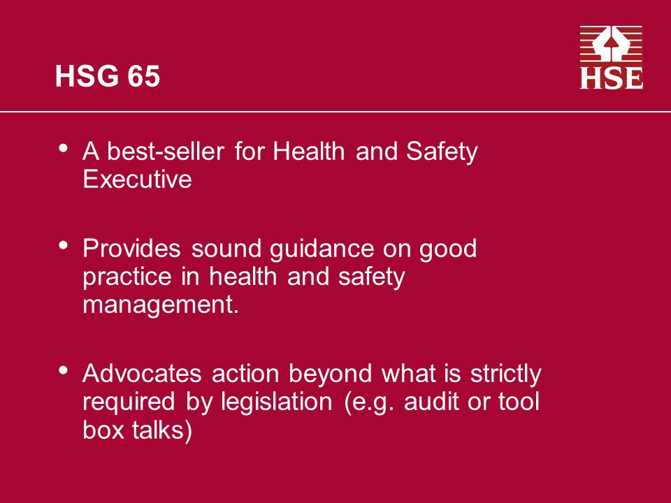 HSG 65 A best-seller for Health and Safety Executive