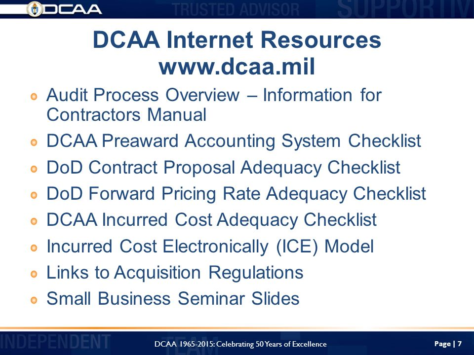 Dcaa Overview And Resources Available For Small Businesses Ppt