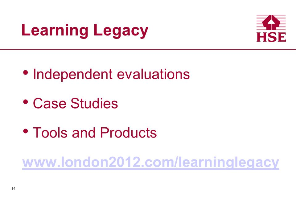 Learning Legacy Independent evaluations Case Studies
