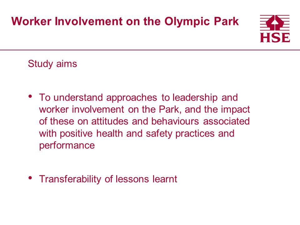 Worker Involvement on the Olympic Park