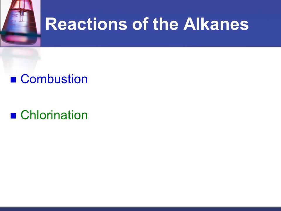 Reactions of the Alkanes
