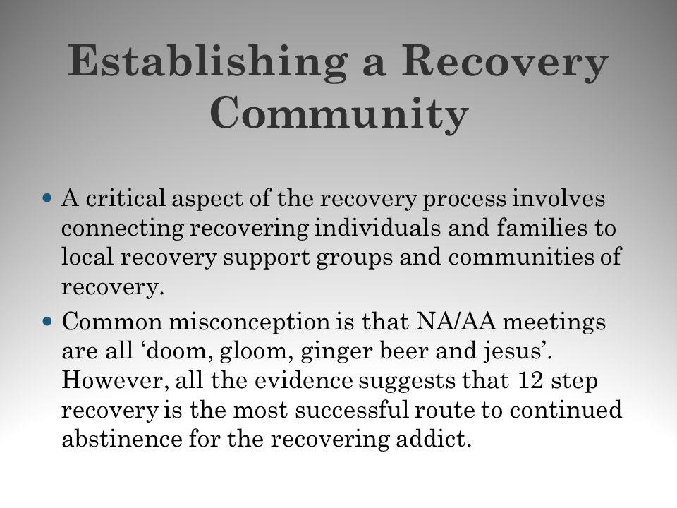 Establishing a Recovery Community