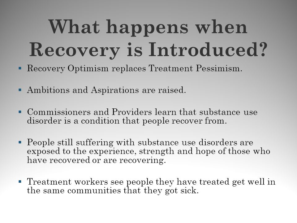 What happens when Recovery is Introduced