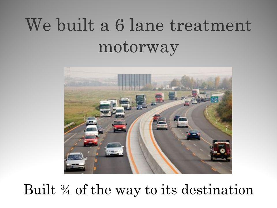 We built a 6 lane treatment motorway