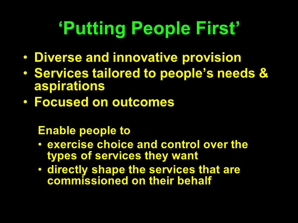 'Putting People First'