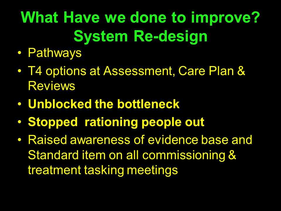 What Have we done to improve System Re-design
