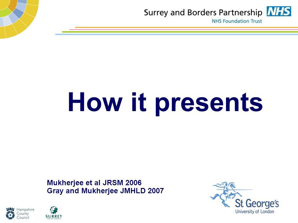 Mukherjee et al JRSM 2006 Gray and Mukherjee JMHLD 2007