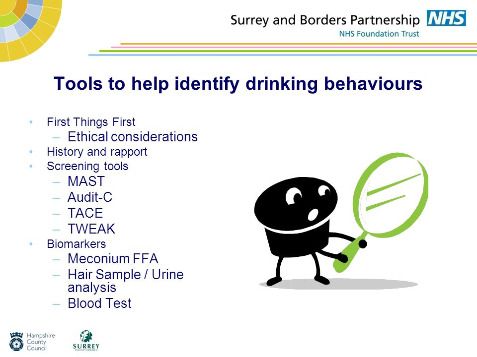 Tools to help identify drinking behaviours