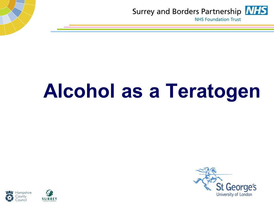 Alcohol as a Teratogen