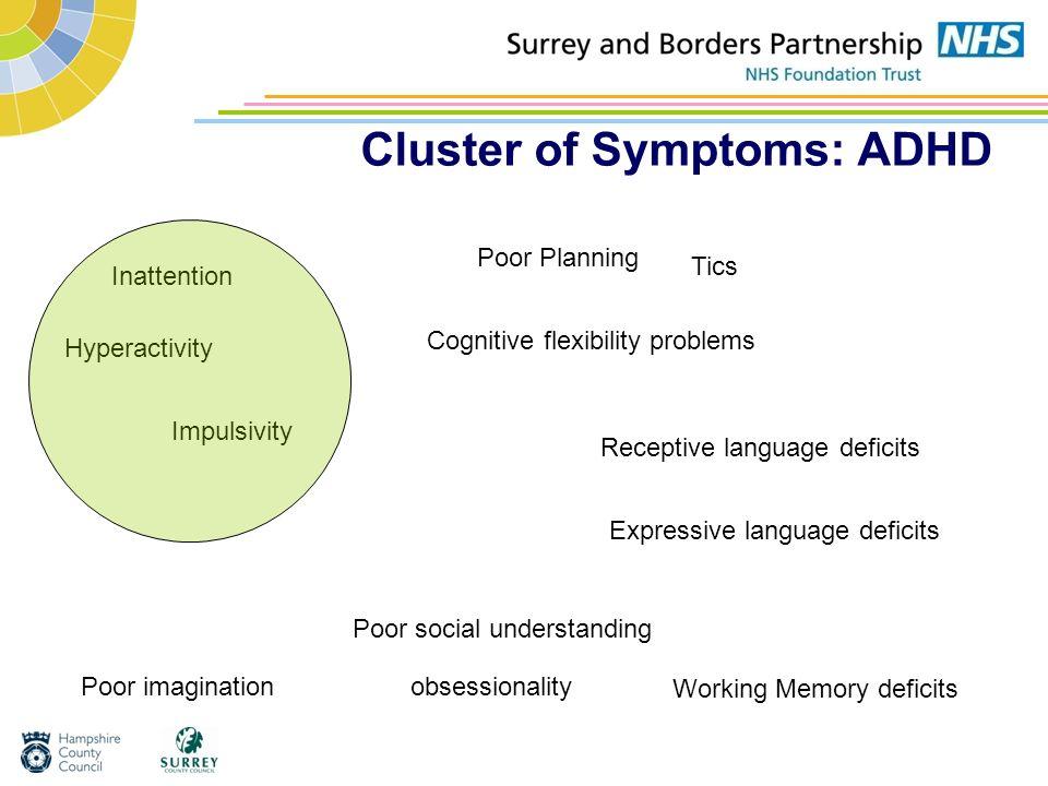 Cluster of Symptoms: ADHD