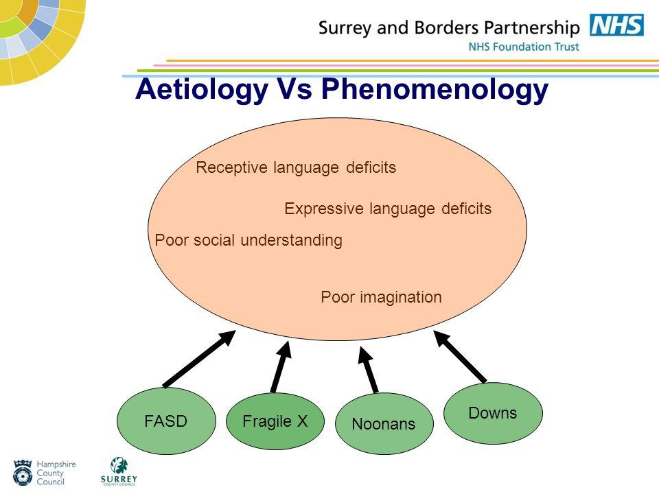 Aetiology Vs Phenomenology