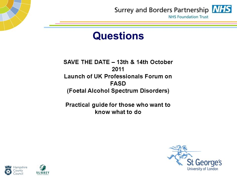 Questions SAVE THE DATE – 13th & 14th October 2011