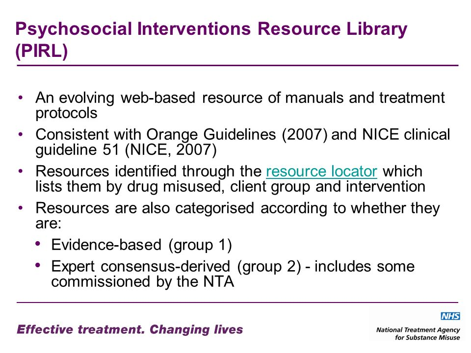 Psychosocial Interventions Resource Library (PIRL)