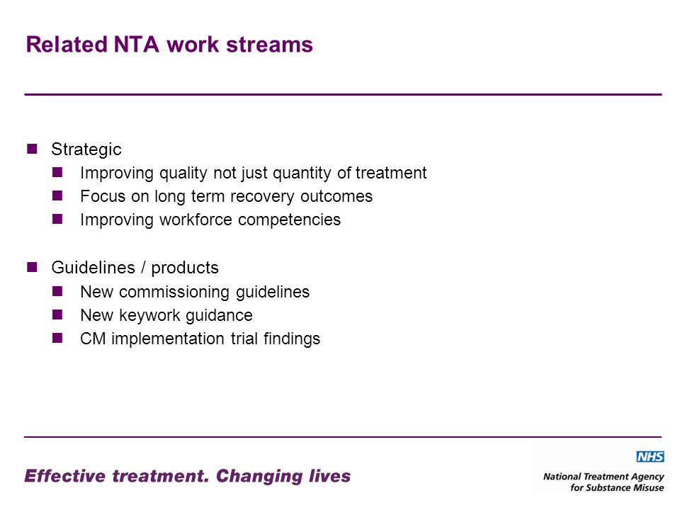 Related NTA work streams