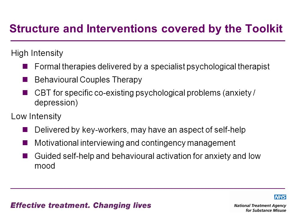 Structure and Interventions covered by the Toolkit