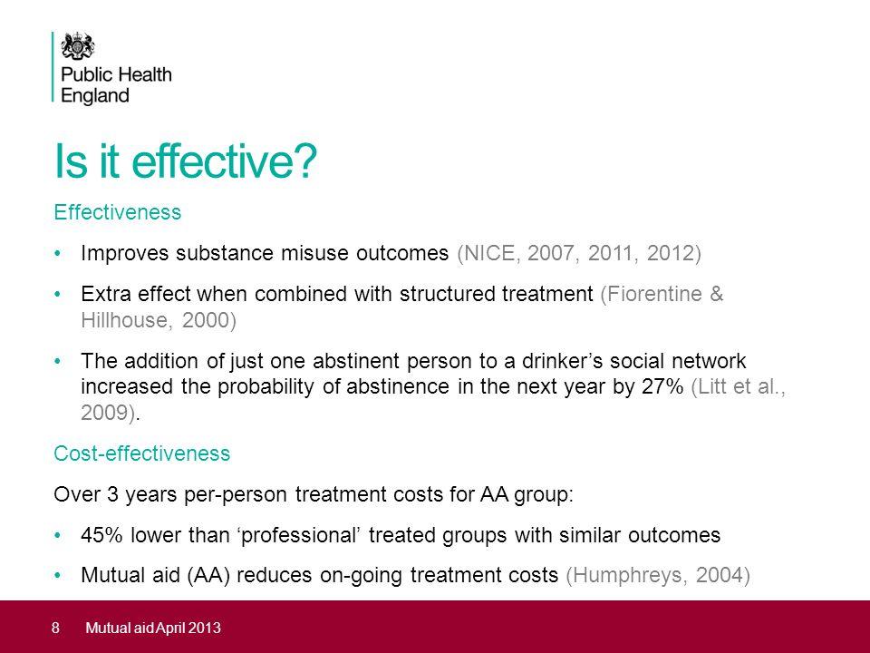 Is it effective Effectiveness