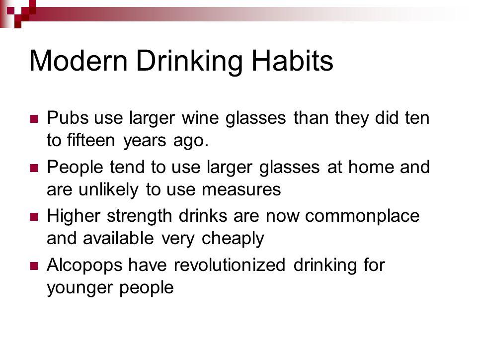 Modern Drinking Habits
