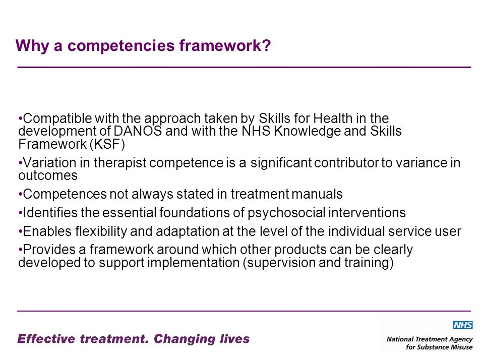Why a competencies framework