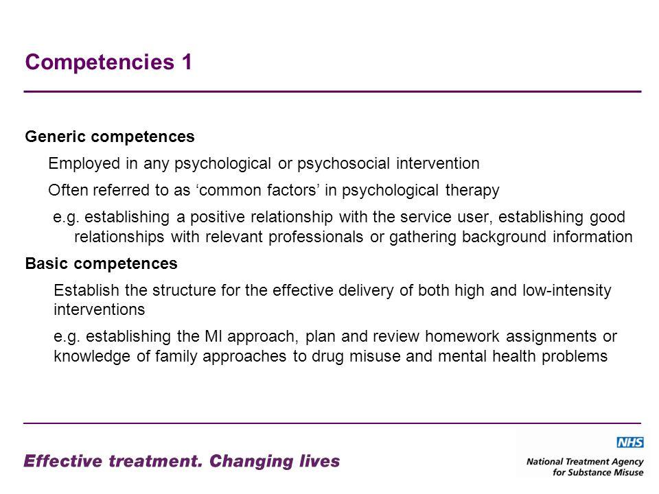 Competencies 1 Generic competences