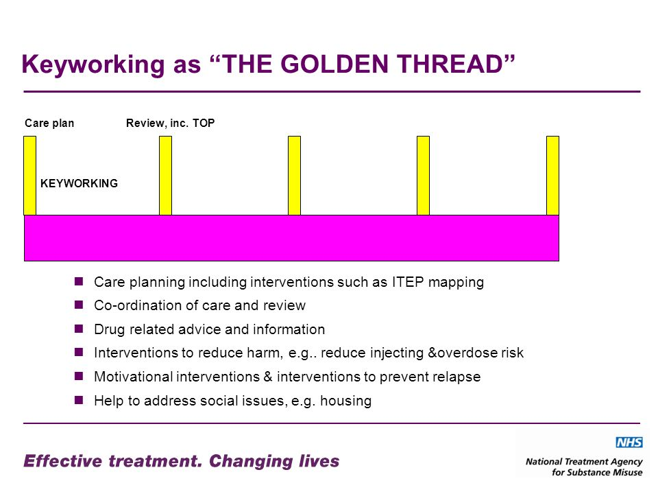 Keyworking as THE GOLDEN THREAD