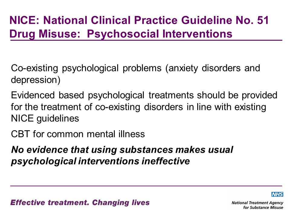 NICE: National Clinical Practice Guideline No