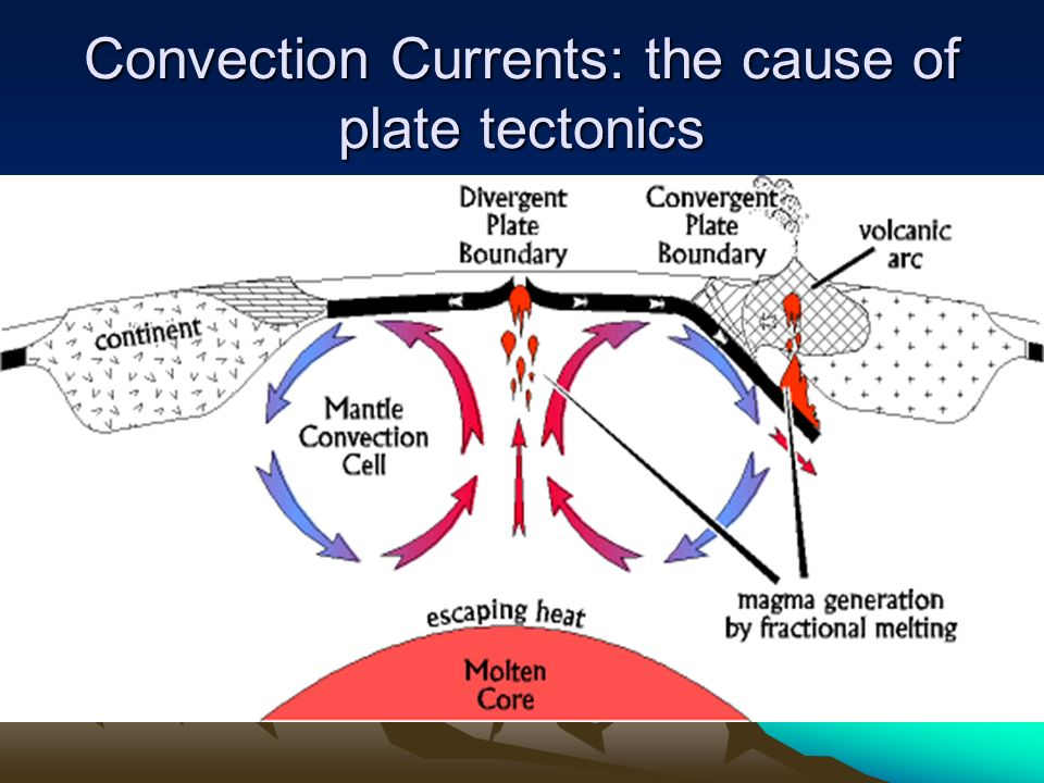 Convection Currents: the cause of plate tectonics