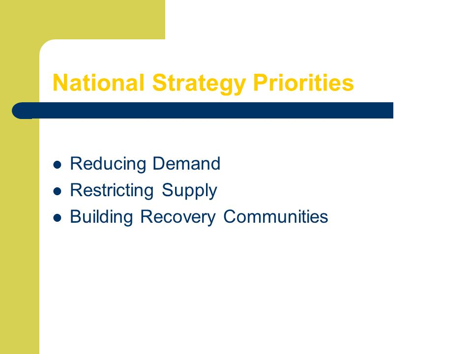 National Strategy Priorities