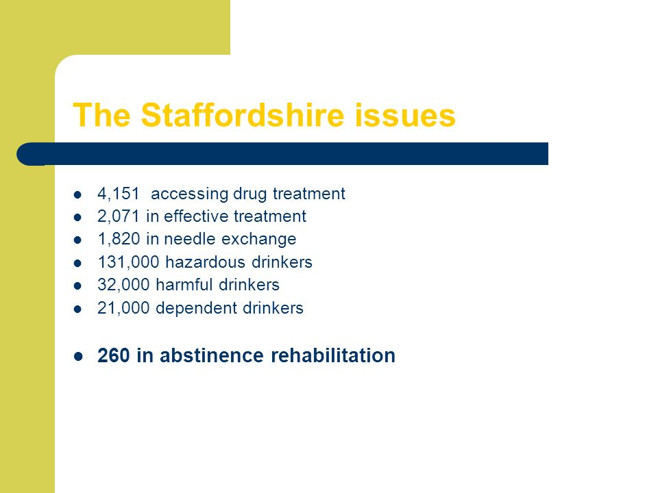 The Staffordshire issues