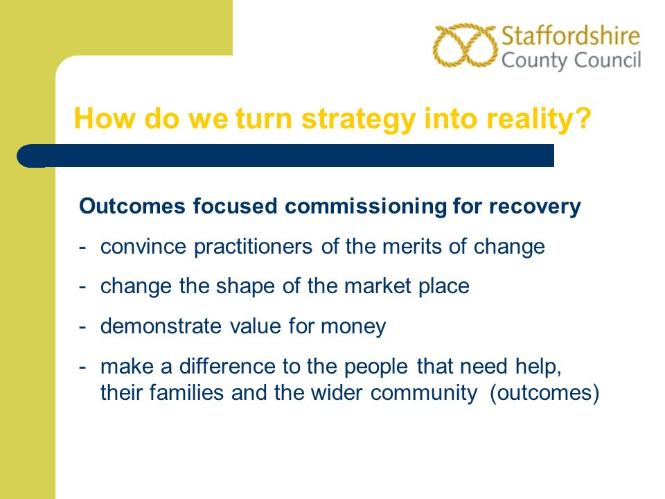 How do we turn strategy into reality