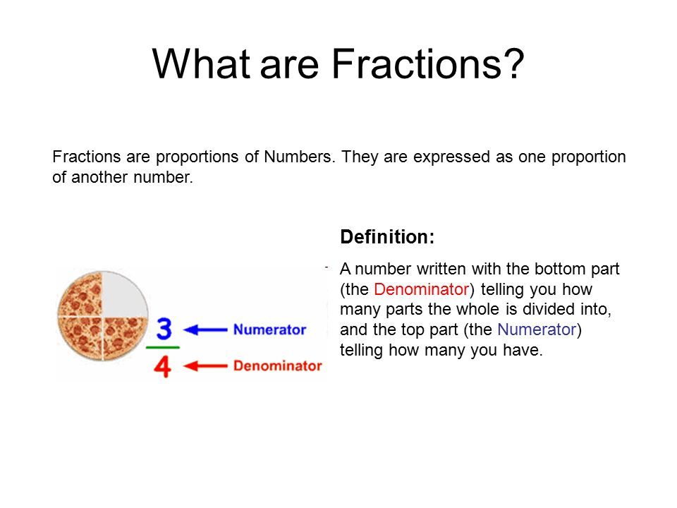 Superior What Are Fractions Definition: