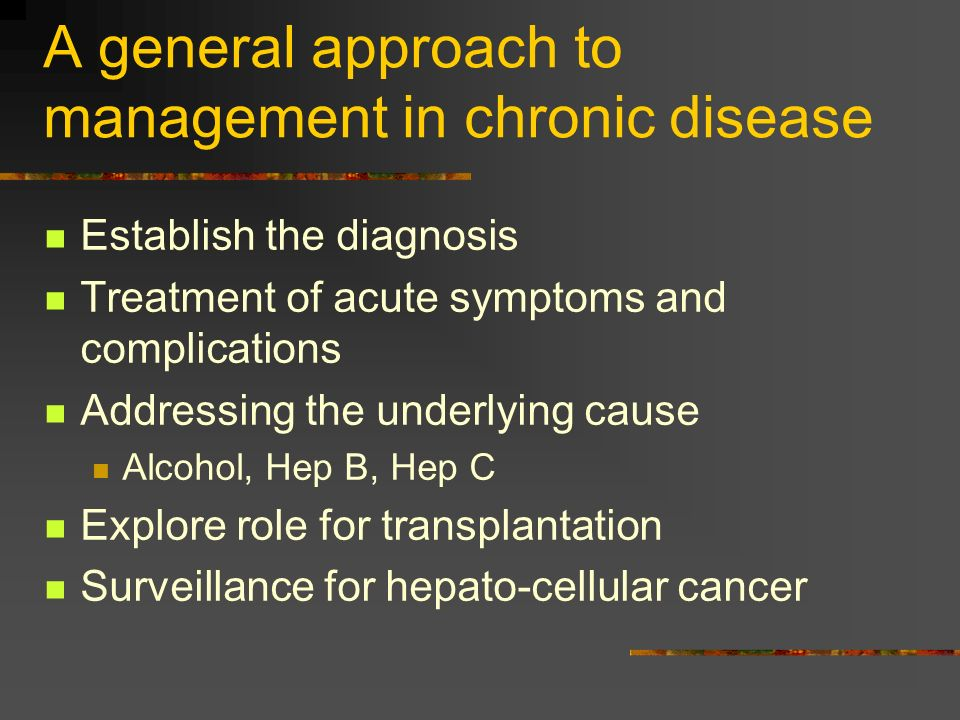 A general approach to management in chronic disease