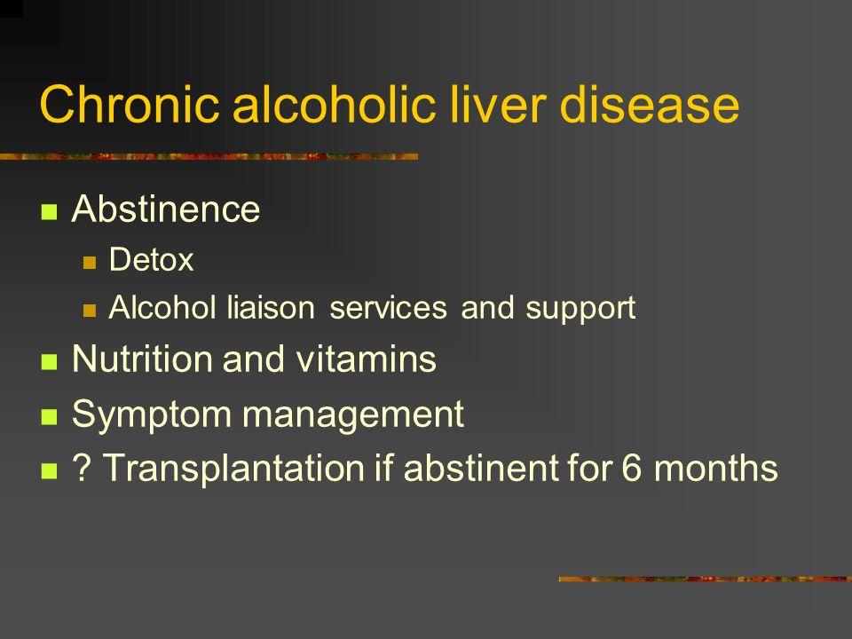 Chronic alcoholic liver disease