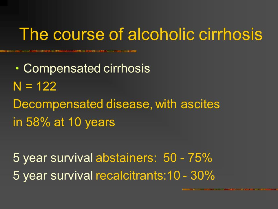 The course of alcoholic cirrhosis