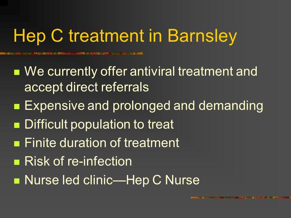 Hep C treatment in Barnsley