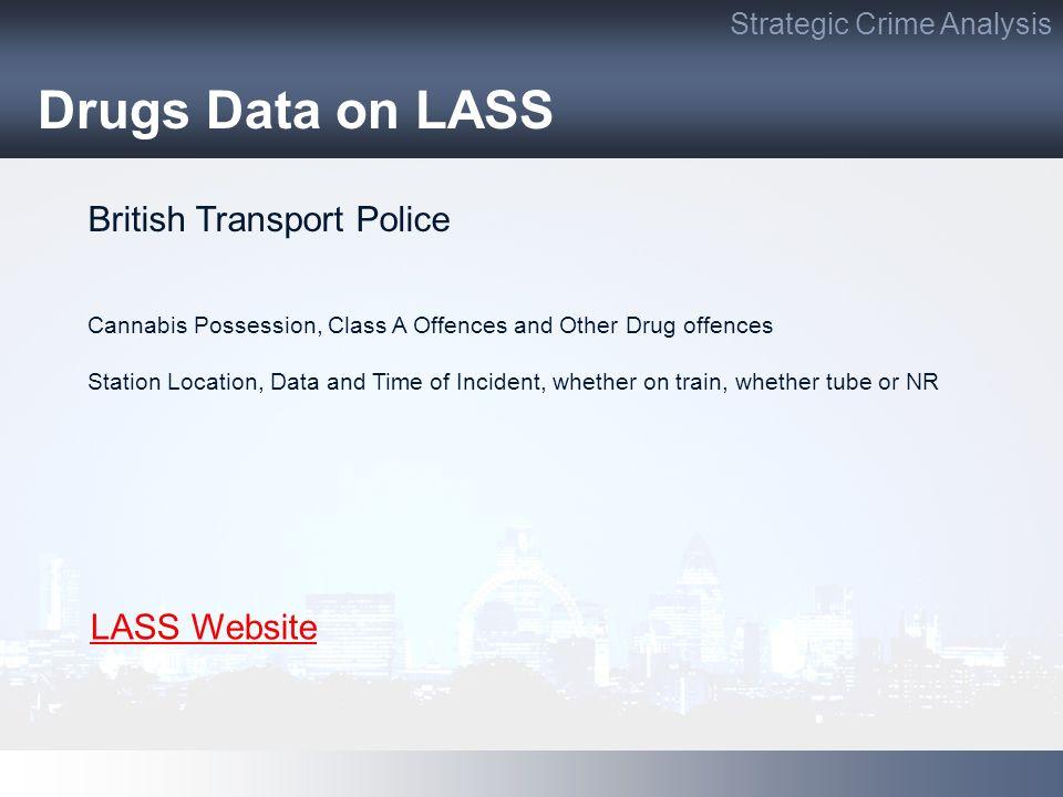 Drugs Data on LASS British Transport Police LASS Website