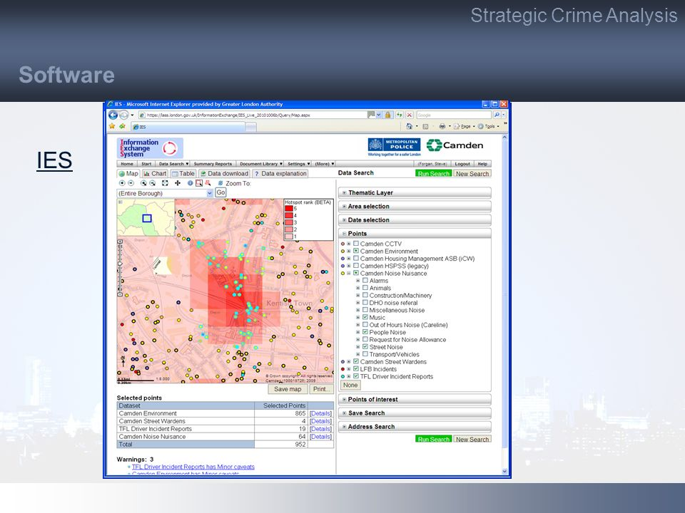Strategic Crime Analysis