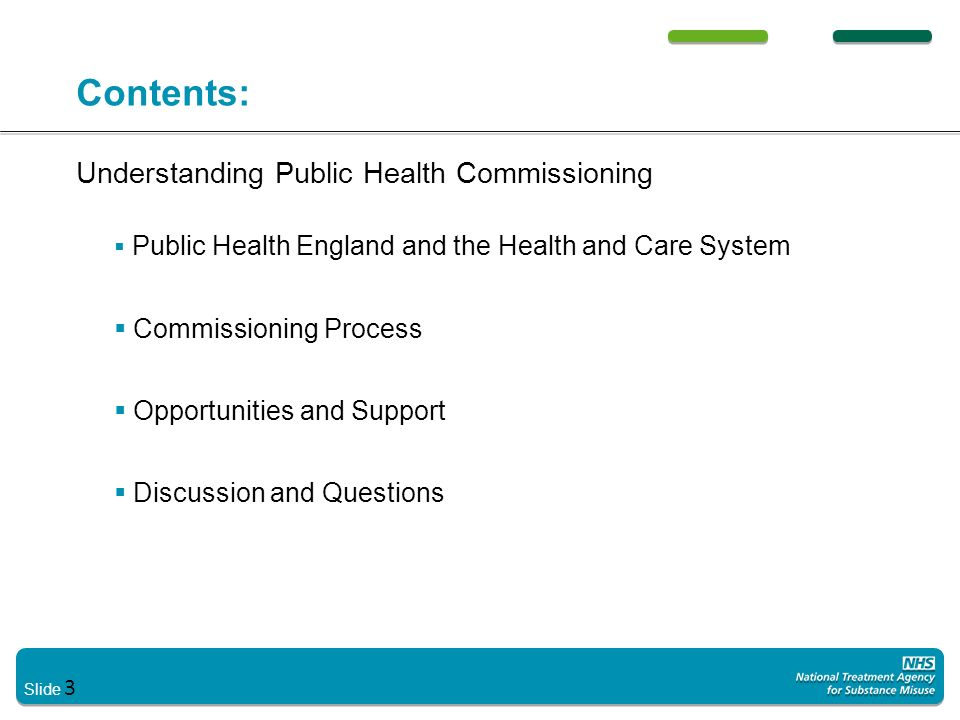 Contents: Understanding Public Health Commissioning