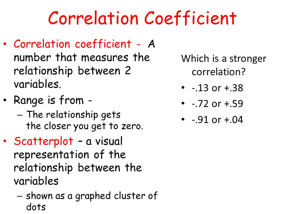 how to find correlation coefficient in numbers