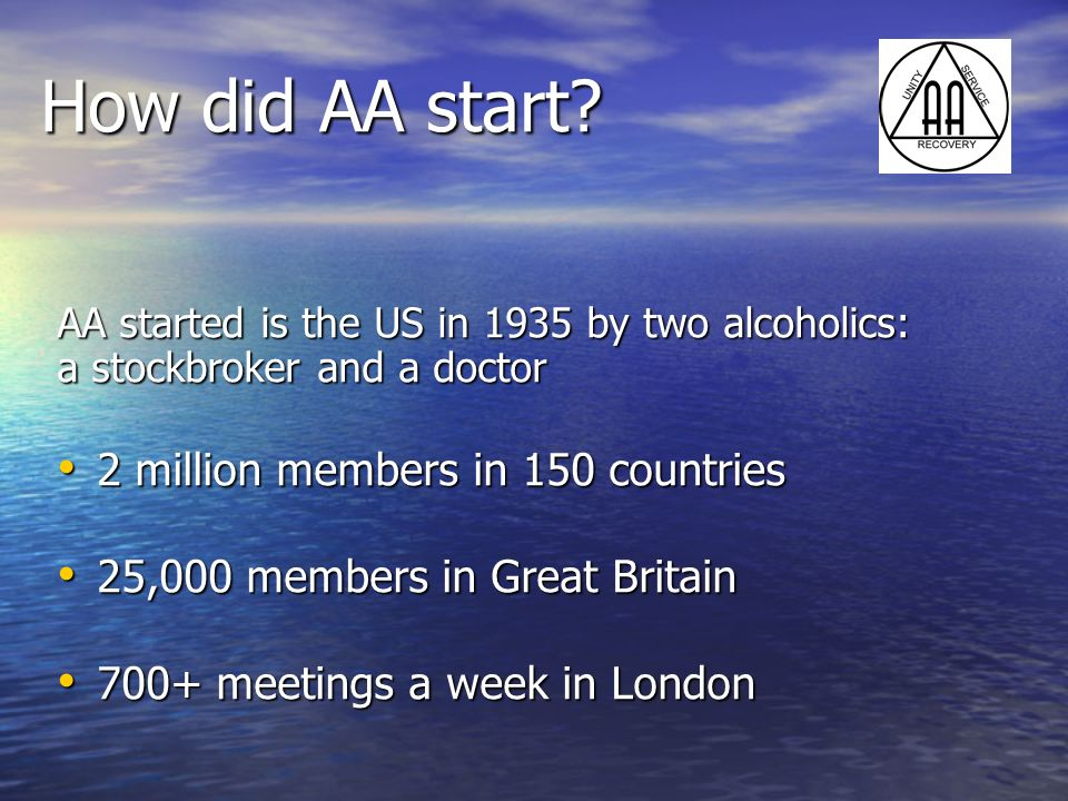 How did AA start 2 million members in 150 countries