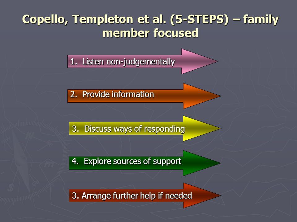 Copello, Templeton et al. (5-STEPS) – family member focused