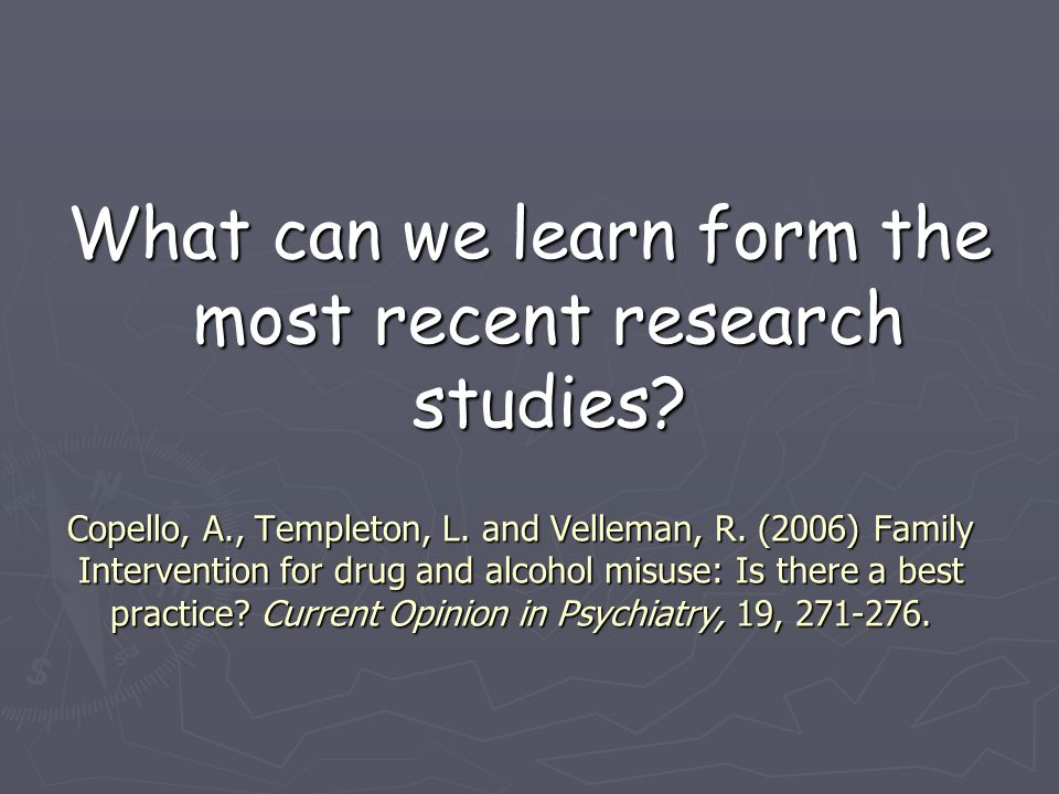 What can we learn form the most recent research studies