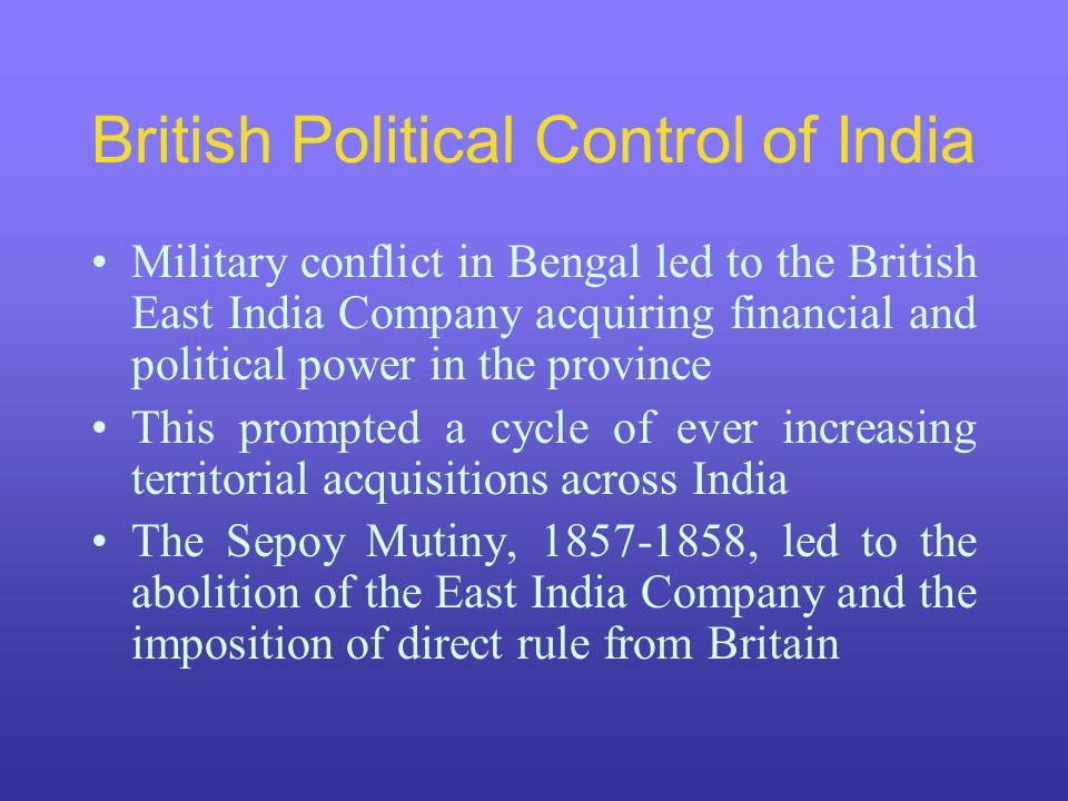 British Political Control of India