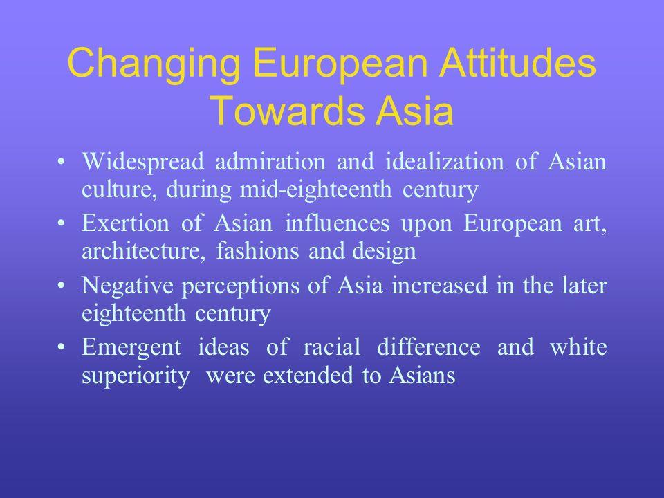 Changing European Attitudes Towards Asia