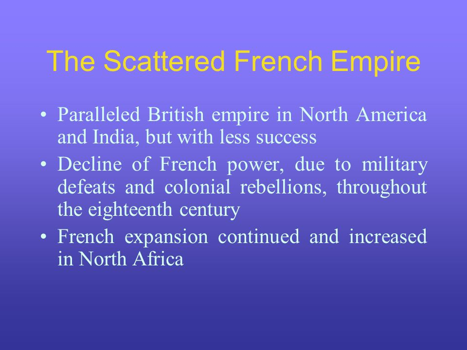 The Scattered French Empire