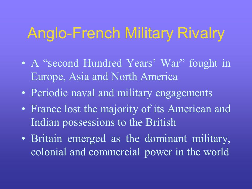 Anglo-French Military Rivalry