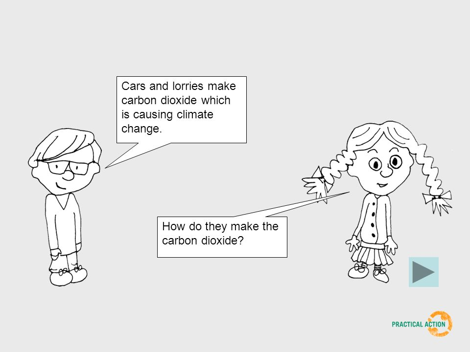 Cars and lorries make carbon dioxide which is causing climate change.