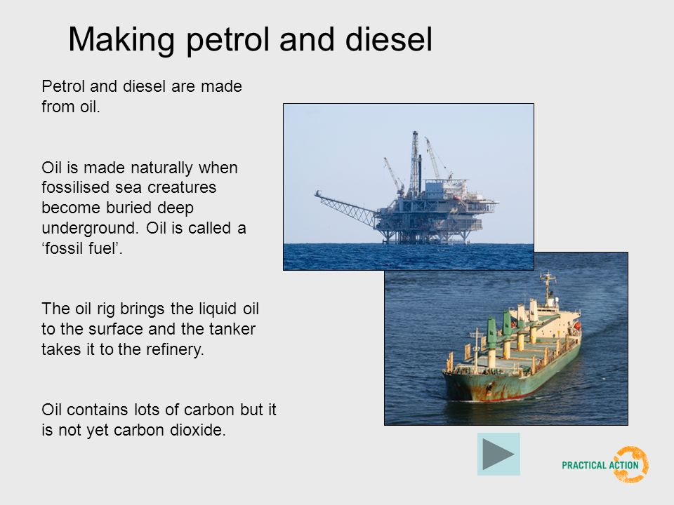 Making petrol and diesel
